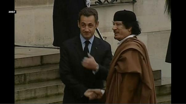 Police question Sarkozy over alleged Libyan campaign financing