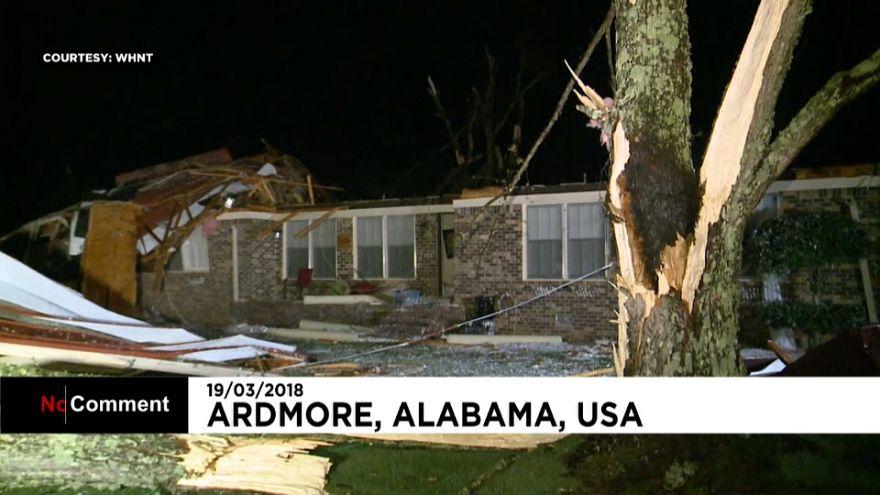 رياح قوية تضرب ولاية ألاباما الأميركية