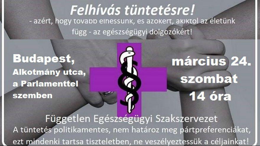 Szombaton tüntetnek az egészségügyi dolgozók