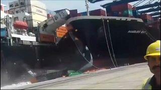 Pakistan : collision entre deux porte-conteneurs
