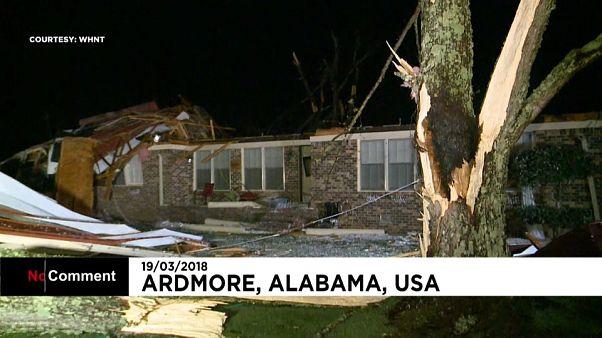 Tempestade fustiga Alabama