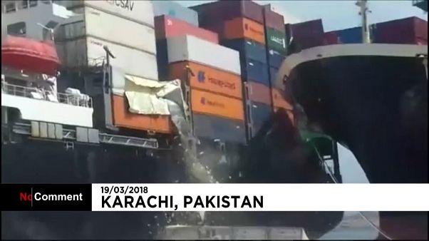 Incidente no porto de Karachi