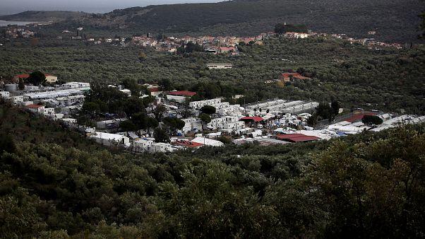 Campamento de refugiados en Lesbos, Grecia