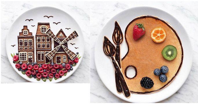 Ukrainian food artist creates delicious paintings