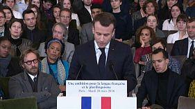 Macron chantre de la langue française