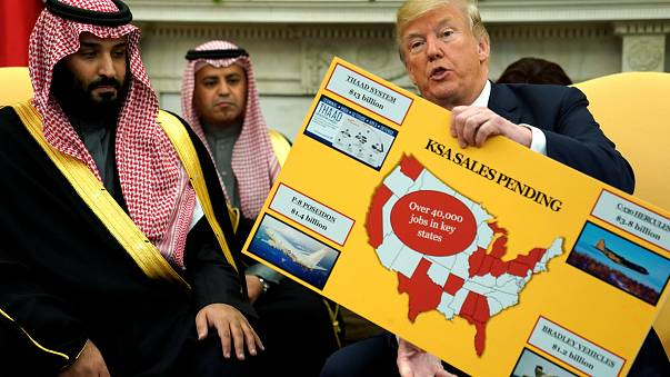 Trump hails arms sales to Saudi as he hosts Crown Prince