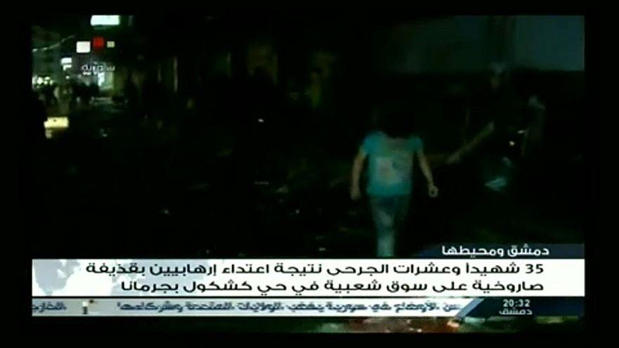Rakéta gyilkolt a damaszkuszi piacon
