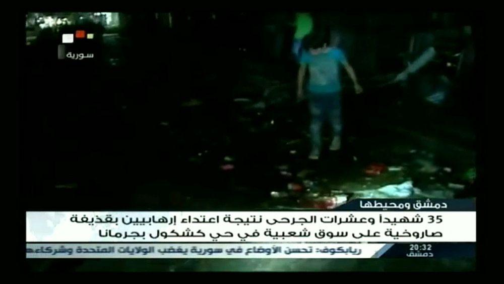Жертвами ракетного обстрела Дамаска боевиками стали 37 человек