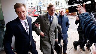 Alexander Nix llega a las oficinas de Cambridge Analytica en Londres