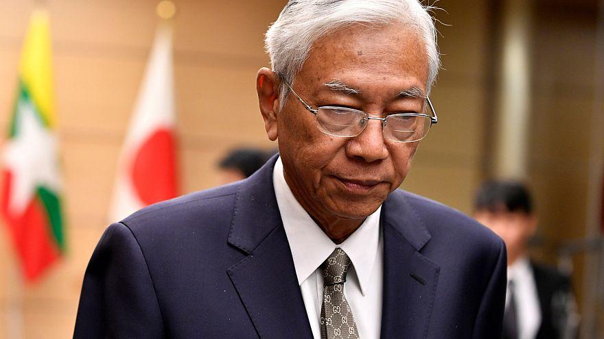 """رئيس ميانمار يعلن استقالته """"كي يستريح"""""""