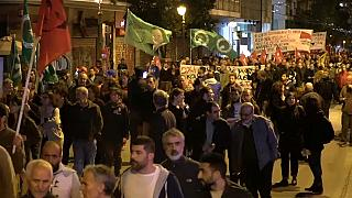 Atina'da Afrin operasyonuna protesto eylemi