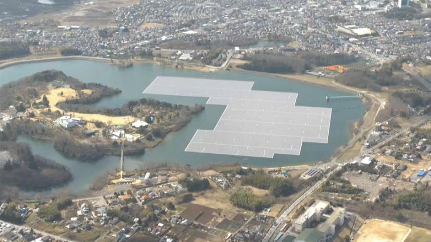 Centrale solaire flottante japonaise