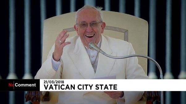 La carcajada del papa Francisco