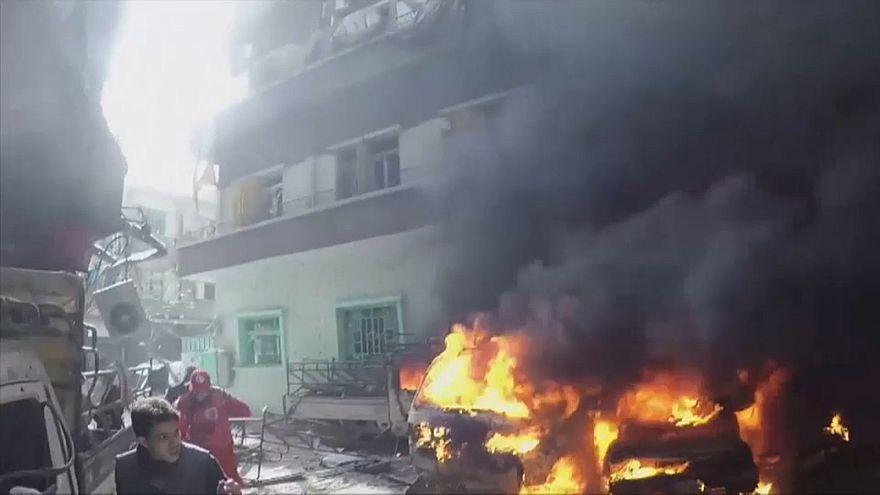 Восточная Гута в огне