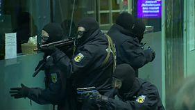 Anti-Terror Übung in Frankfurt