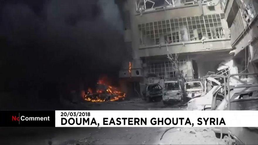 El vídeo que muestra la destrucción de Duma