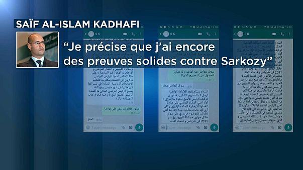 Filho de Kadafi relança acusações a Nicolas Sarkozy