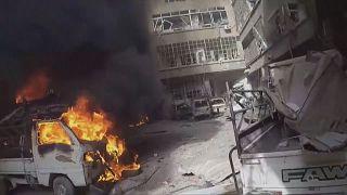 Capacetes Brancos mostram destruição em Ghouta Oriental