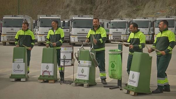 Turkey's garbage men make music from trash