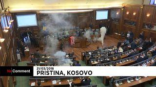 Kosovo opposition use tear gas to delay parliament vote on Montenegro borde