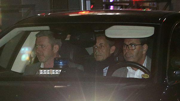 Nicolas Sarkozy leaves the judiciary police offices in Nanterre, 21/03/2018