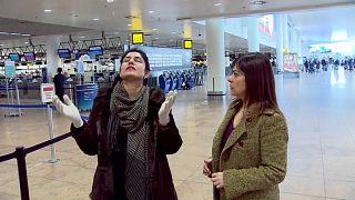 Belçika'daki bombalı saldırıdan kurtulan kadın iki yıl sonra olay yerinde