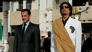 دیدار نیکولا سارکوزی و معمر قذافی در طرابلس، پایتخت لیبی؛ ۲۵ ژوئیه ۲۰۰۷