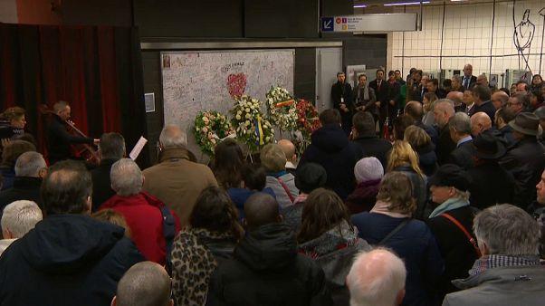 La cerimonia in ricordo delle vittime del 22 marzo 2016