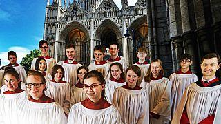 گروه جوانان کلیسای جامع شهر پیتربورو در بریتانیا