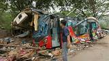 Terrible accident de bus en Thaïlande