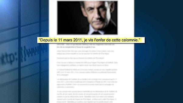 """Sarkozy: """"Kaddafi'nin Euronews'teki iddiaları asılsız"""""""