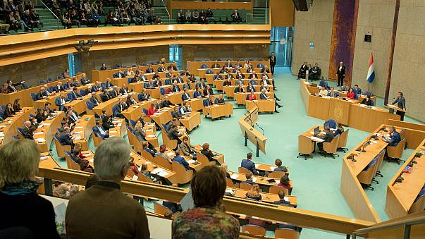 Man injured after jumping from public gallery of Dutch parliament