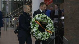 دقيقة صمت في مطار بروكسل في الذكرى الثانية للهجمات الانتحارية على المدينة