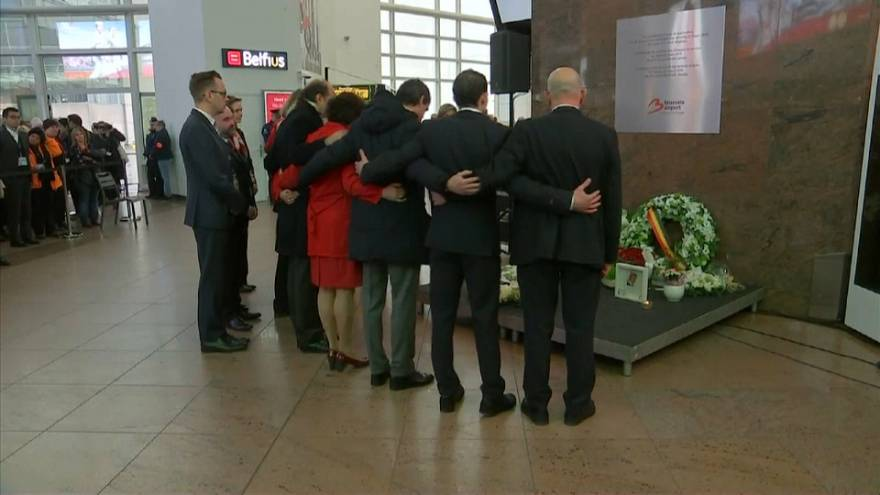 Bruxelles, omaggio alle vittime, due anni dopo l'attentato di Zaventem