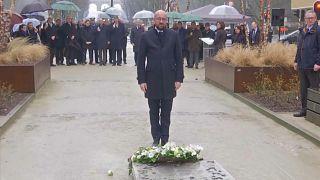 Belgium commemorates victims at metro station