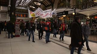 Rail workers staged walkout at Paris' train stations