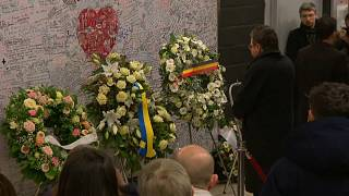 Flughafen Brüssel: Schweigeminute für Opfer des Terrors