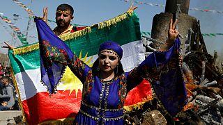جشن نوروز در ترکیه؛ کردها به حملات دولت در عفرین اعتراض کردند