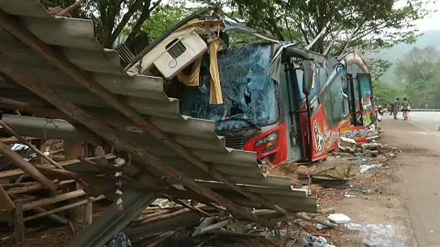 Halálra gázolt 18 embert egy busz
