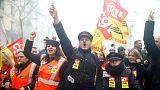 strike against reforms in Paris