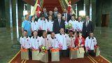 Cumhurbaşkanı Erdoğan down sendromlu sporcularla buluştu