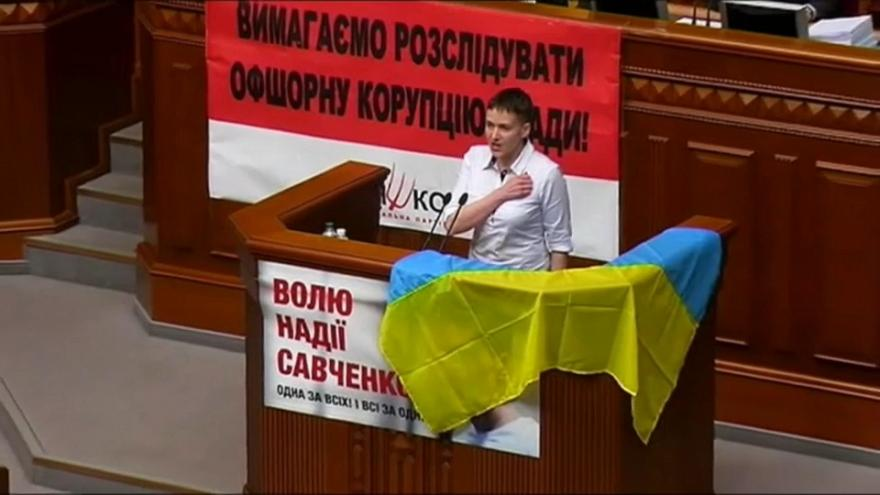 Opposition Ukrainian MP Nadiya Savchenko