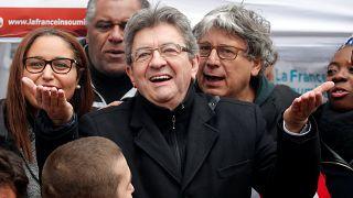 Jean-Luc Mélenchon pendant la manifestation 22 mars 2018 Paris.