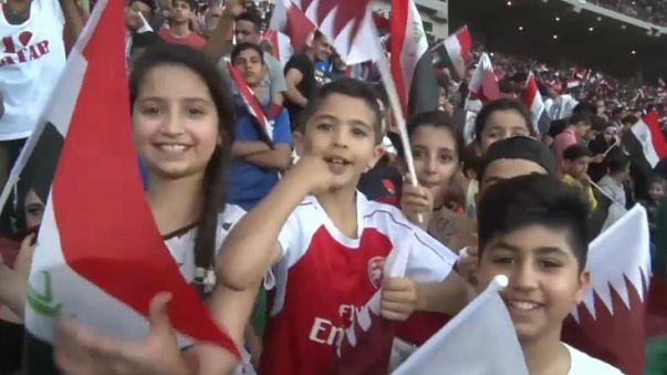 Fans enjoy return to authorised international soccer in Basra