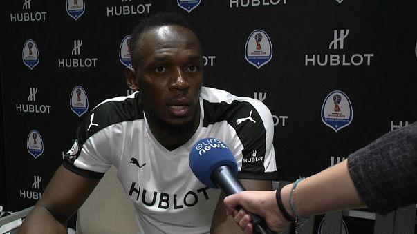 """Usain Bolt : """"Mon but, devenir footballeur professionnel"""""""
