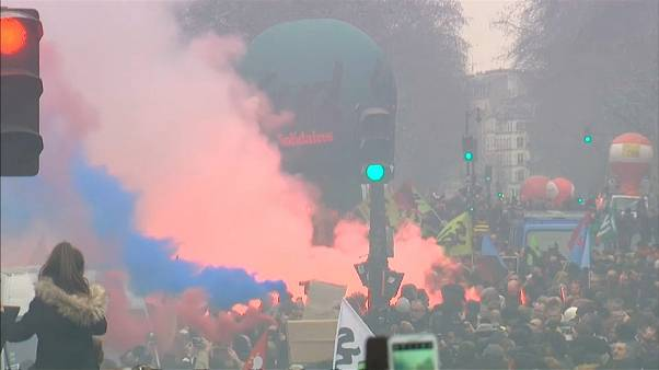 Protests in Paris over economic reform plans