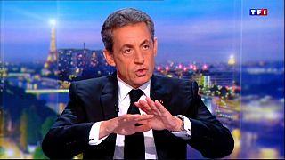 Sarkozy durante su entrevista en TF1