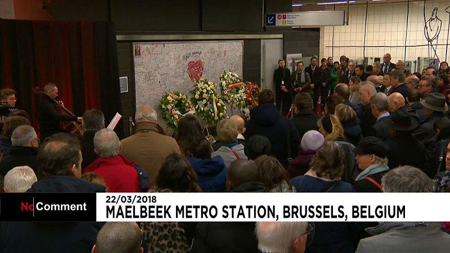 Deux ans après, l'hommage de la Belgique aux victimes des attentats de Bruxelles