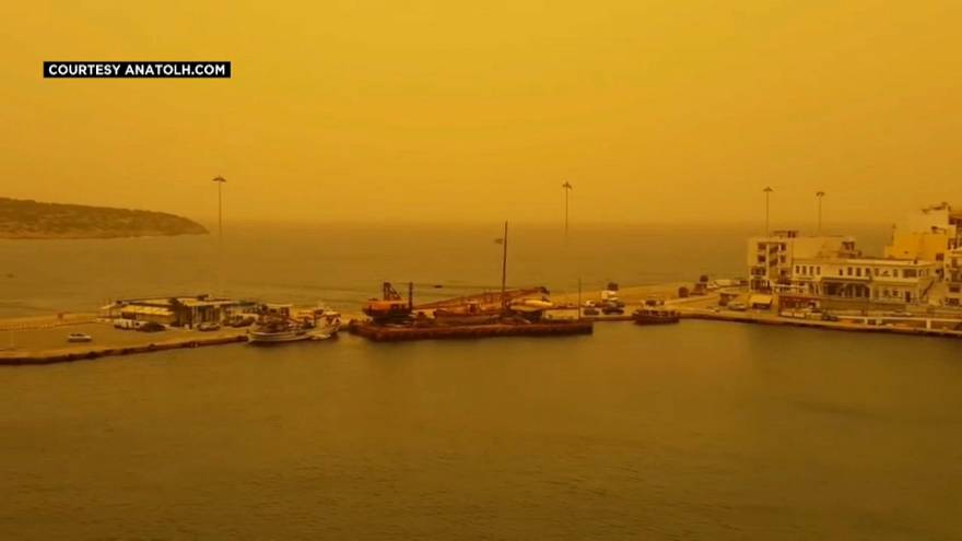 Saharan dust covers much of Greece and travels further into Europe