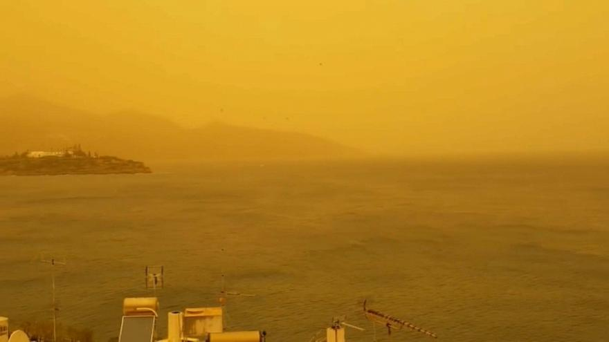 Tempestade de areia do Saara chega à Grécia